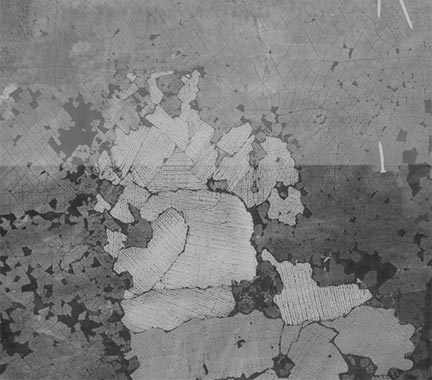 Detail of X-radiograph from the area of the Saint George,'Giorgione, 'Il Tramonto (The Sunset)'