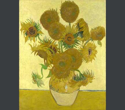 Van Gogh, 'Sunflowers', 1888