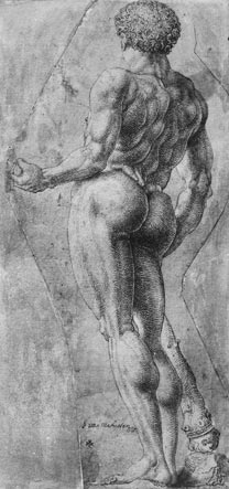 Gossart, drawing after the Hellenistic gilded bronze statue of Hercules