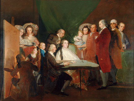 Francisco de Goya, The Family of the Infante Don Luis de Borbón, 1783-4 © Fondazione Magnani Rocca, Parma, Italy