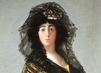 Detail from Francisco de Goya, The Duchess of Alba, 1797. On Loan from The Hispanic Society of America, New York A102 © Courtesy of The Hispanic Society of America, New York