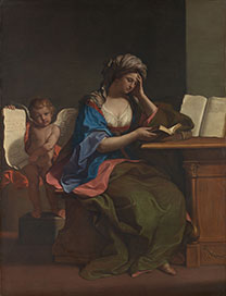 Guercino, 'The Samian Sibyl with a Putto', 1651