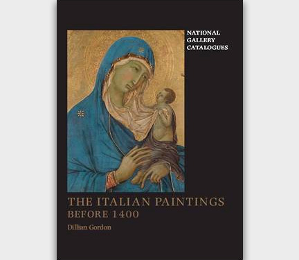 Book cover of Dillian Gordon's The Italian Paintings Before 1400