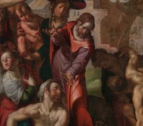 Details from Joachim Wtewael, 'The Raising of Lazarus', 1605-10 © Wycombe Museum, High Wycombe