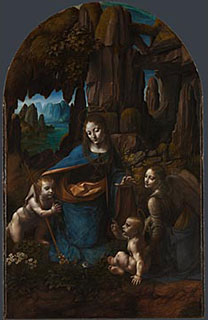 Leonardo 'The Virgin of the Rocks', about 1491-1508