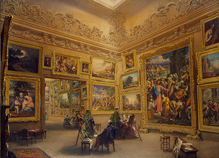 Frederick Mackenzie, 'The National Gallery when at Angersteins House, Pall Mall', 1824