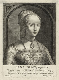 Magdalena van de Passe and Willem van de Passe, after Hans Holbein the Younger, 'Lady Jane Grey'