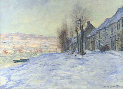 Monet, 'Lavacourt Under Snow, about 1878-81