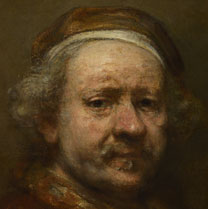 Detail from Rembrandt, 'Self Portrait at the Age of 63'