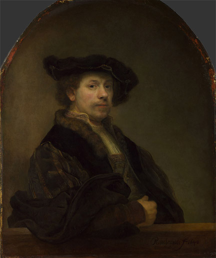 Rembrandt: 'Self Portrait at the Age of 34' © The National Gallery, London