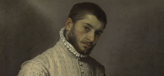 Detail from Giovanni Battista Moroni, The Tailor ('Il Tagliapanni'), 1565-70
