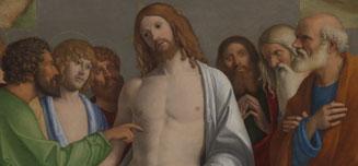 Detail from Giovanni Battista Cima da Conegliano, 'The Incredulity of Saint Thomas', about 1502-4