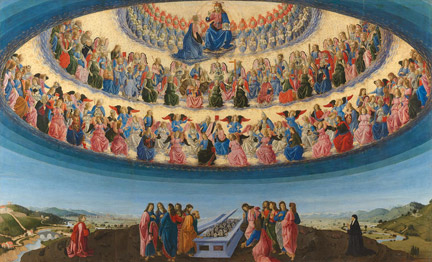 Francesco Botticini, The Assumption of the Virgin, probably about 1475-6