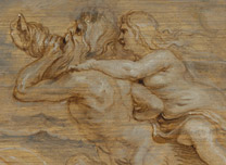 Detail from Peter Paul Rubens, The Birth of Venus, about 1632-3