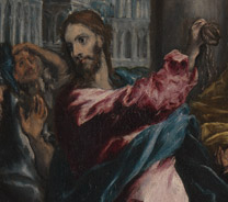 Detail from El Greco, Christ driving the Traders from the Temple, about 1600