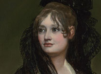Detail from Francisco de Goya, Doña Isabel de Porcel, before 1805