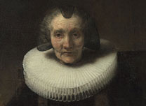 Detail from Rembrandt, Portrait of Margaretha de Geer, Wife of Jacob Trip