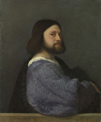 Titian, Portrait of Gerolamo (?) Barbarigo, about 1510 © The National Gallery, London