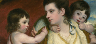 Detail from Sir Joshua Reynolds, 'Lady Cockburn and her Three Eldest Sons', 1773