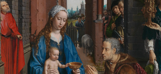 Detail from Jan Gossaert, The Adoration of the Kings, 1510-15
