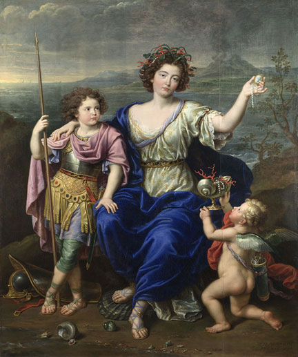 Pierre Mignard, 'The Marquise de Seignelay and Two of her Sons', 1691