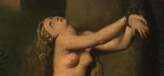 Detail from Jean-Auguste-Dominique Ingres, Angelica saved by Ruggiero, 1819-39
