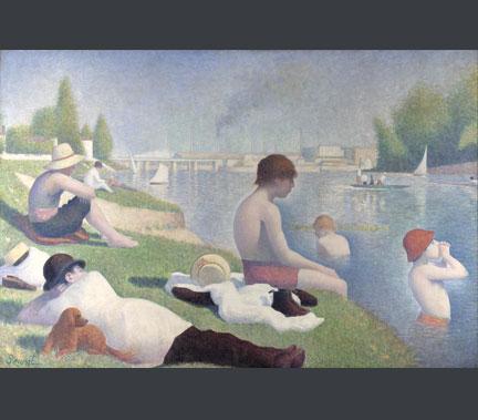 Georges Seurat: 'Bathers at Asnières', 1884
