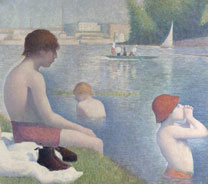 Detail from Georges Seurat: 'Bathers at Asnières', 1884