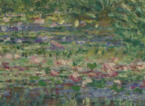 Detail from Claude-Oscar Monet: 'The Water-Lily Pond'
