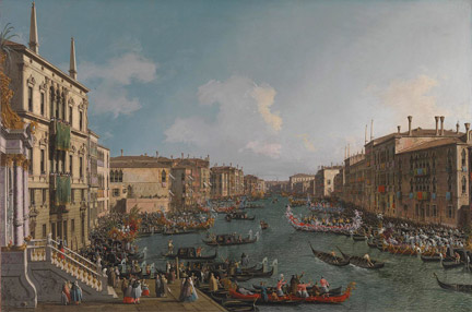 Canaletto: 'A Regatta on the Grand Canal', about 1740