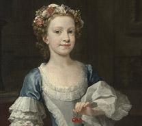 Detail from William Hogarth, The Graham Children, 1742