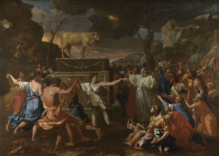 Nicolas Poussin, 'The Adoration of the Golden Calf', 1633-4