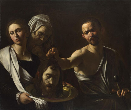 Michelangelo Merisi da Caravaggio, Salome receives the Head of John the Baptist, 1607-10