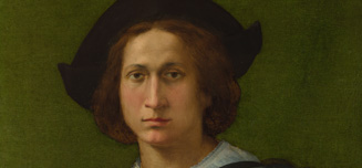 Detail from Rosso Fiorentino, Portrait of a Young Man holding a Letter, 1518