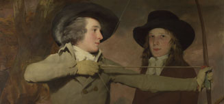 Detail from Sir Henry Raeburn, The Archers, about 1789-90