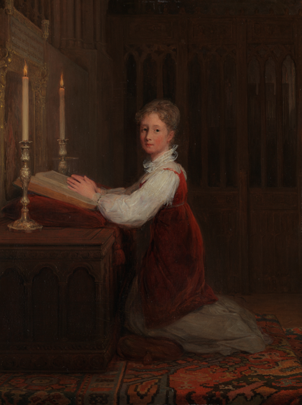 David Wilkie,'A Young Woman Kneeling at a Prayer Desk', 1813