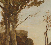 Detail from Jean-Baptiste-Camille Corot, The Four Times of Day: Morning, about 1858