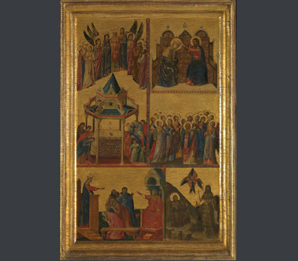 Giovanni da Rimini, active 1292 – 1336, Scenes from the Lives of the Virgin and other Saints, 1300 - 05. Acquired with a generous donation from Ronald S. Lauder, 2015