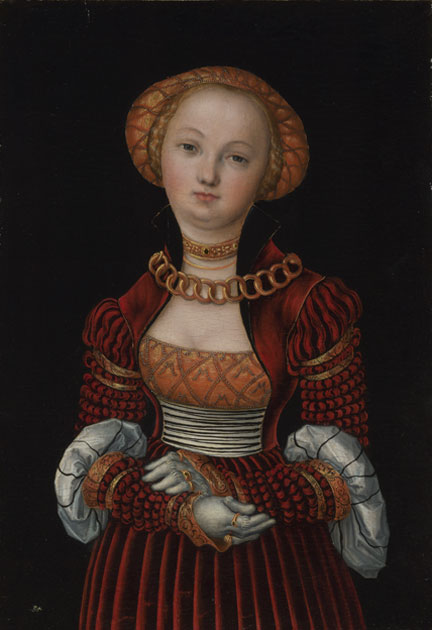 Lucas Cranach the Elder, 'Portrait of a Woman', 1525–7, NG291