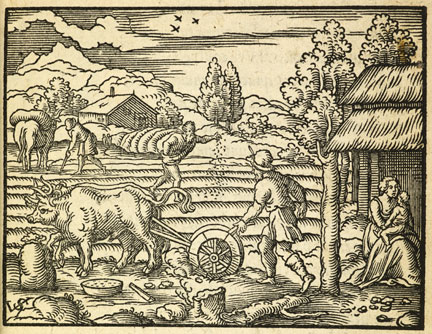 fig. 5 Virgil Solis, 'The Silver Age', from Ovid's Metamorphosis, 1563, woodcut, British Library, London © By permission of the British Library, London