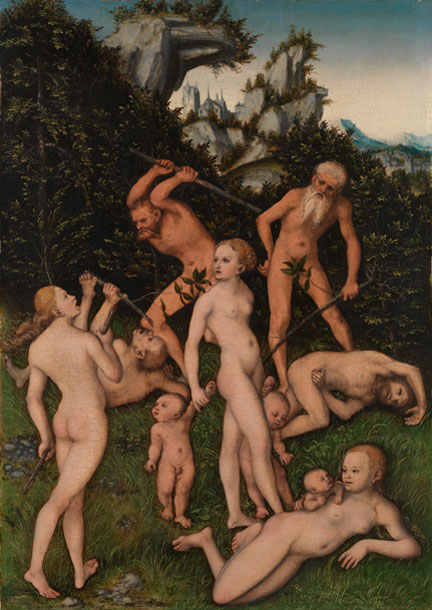 Lucas Cranach the Elder, 'Primitive People', 1527–30, NG3922