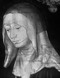 fig. 7 Infrared reflectogram of NG6511.2 showing the head of Saint Apollonia