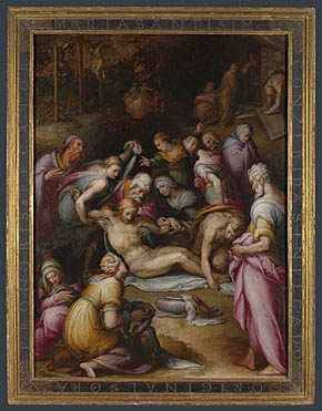 Giovanni Battista Naldini, 'Lamentation of the Dead Christ', about 1572