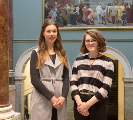 Sylvie Broussine and Lucy West, Curatorial Trainees supported by the Art Fund with the assistance of the Vivmar Foundation.