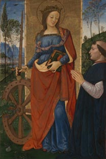 Pintoricchio, 'Saint Catherine of Alexandria with a Doner', about 1480-1500