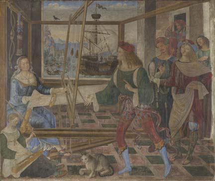 Pintoricchio, 'Penelope and her Suitors', about 1509