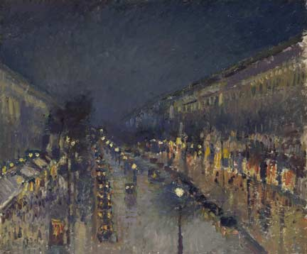 Pissarro, 'The Boulevard Montmartre at Night', 1897