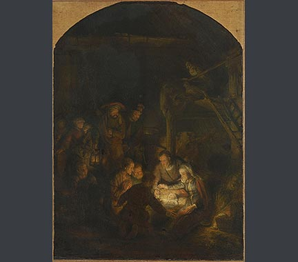 Rembrandt, 'The Adoration of the Shepherds'. Bayerische Staatsgemäldesammlungen, Alte Pinakothek, Munich