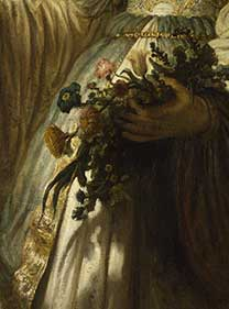 Detail from Rembrandt, 'Saskia van Uylenburgh in Arcadian Costume', 1635