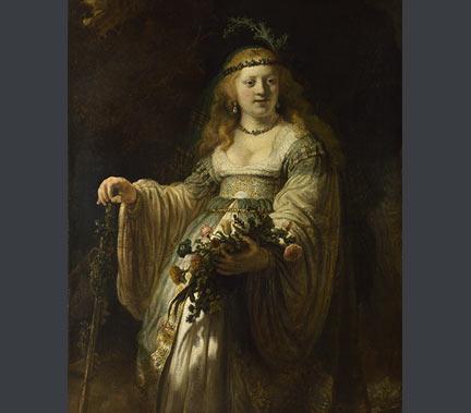 Rembrandt, 'Saskia van Uylenburgh in Arcadian Costume', 1635